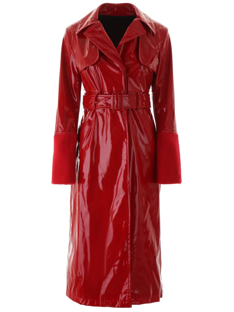 Kirin Vinyl Trench Coat - RED (Red)