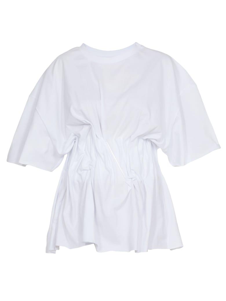 Natasha Zinko T Shirt With Corset - WHITE