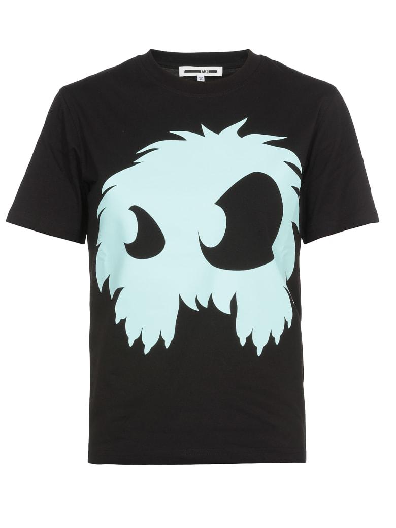 McQ Alexander McQueen Monster Print T Shirt - Darkest Black/Aqua
