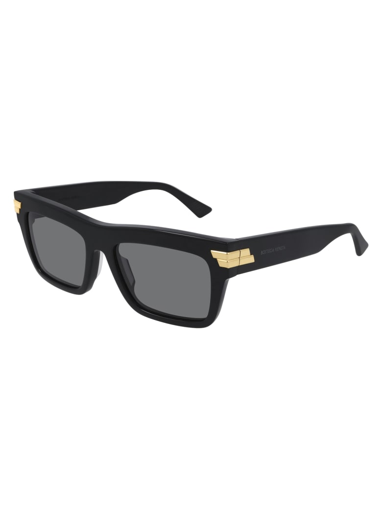 Bottega Veneta BV1058S Sunglasses - Black Black Grey