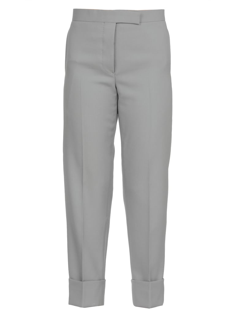 Thom Browne Trousers With Turn Up - MED GREY