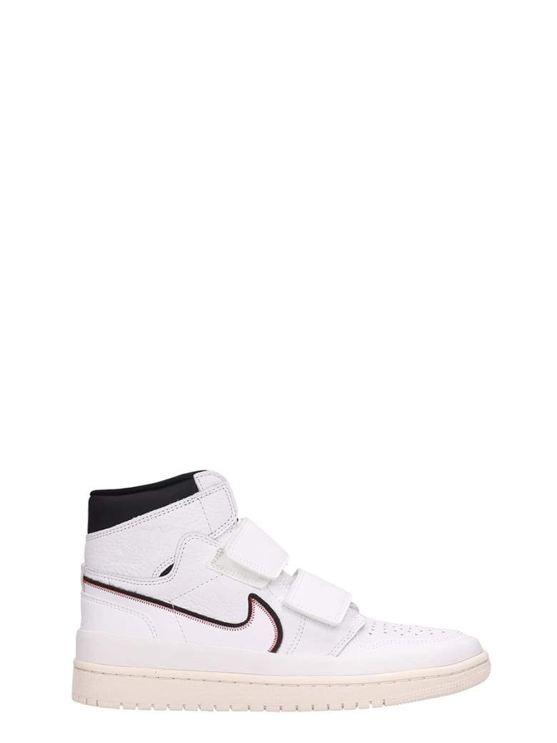 Nike Air Jordan Retro White Leather Sneakers - white