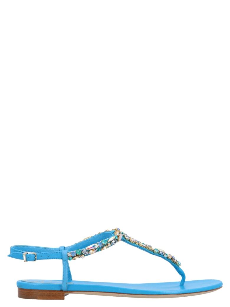 René Caovilla 'diana' Sandals - Light blue
