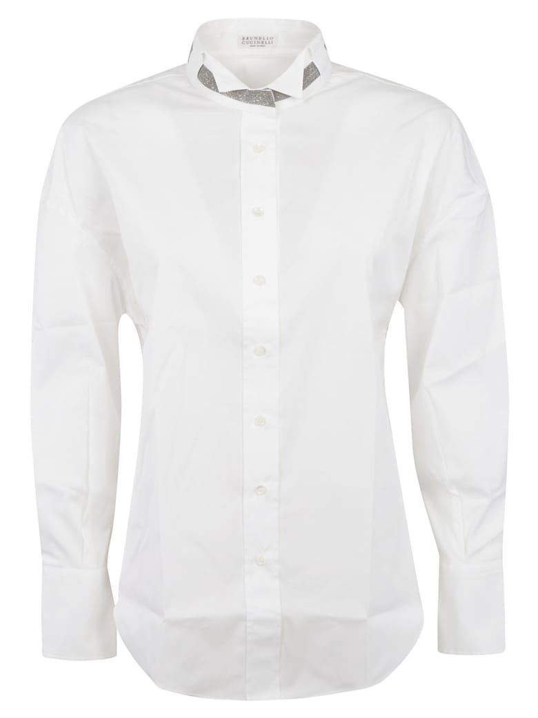 Brunello Cucinelli Stand-up Collar Shirt - White