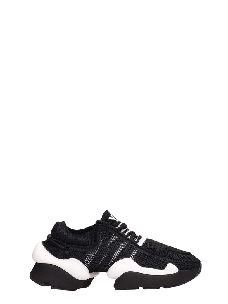 Y-3 Kaiwa Pod Black Mesh Sneakers - black