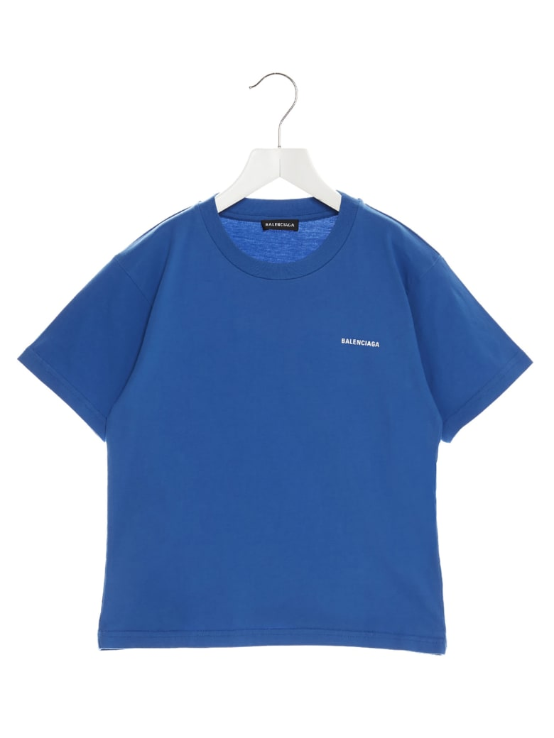 Balenciaga T-shirt - Screen blue/white