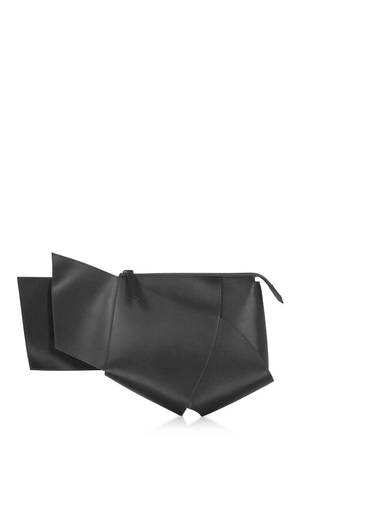 Giaquinto Ava Leather Clutch - Black
