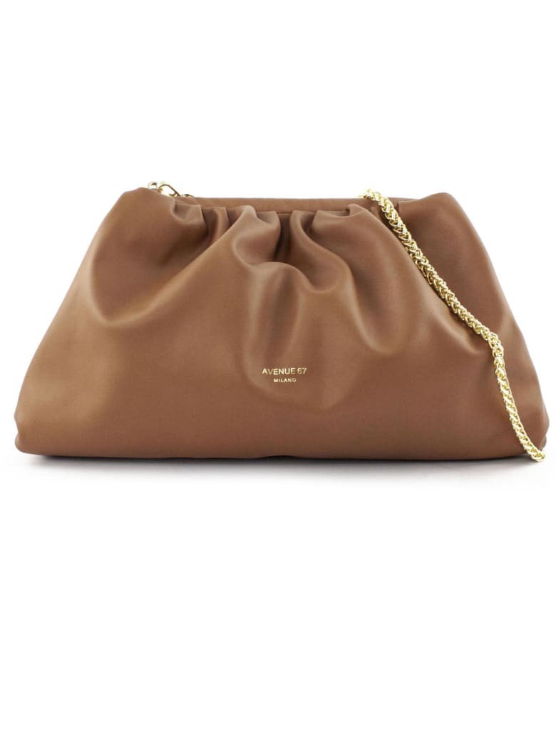Avenue 67 Puffy Bag In Brown Leather - Cuoio