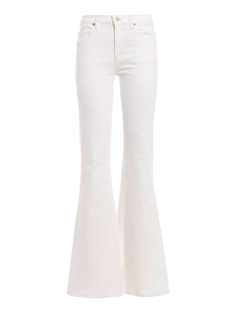 Citizens of Humanity Chloe Flared Jeans - Sea Salt White