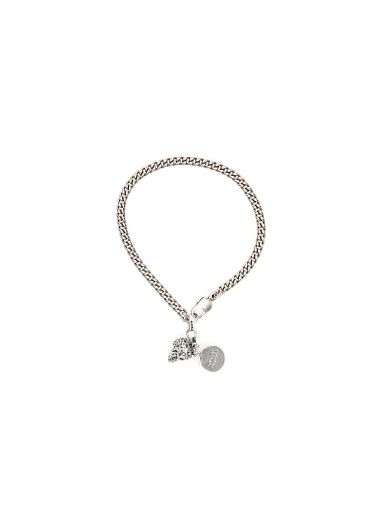 Alexander McQueen Pave Skull Bracelet - MIX (Silver)