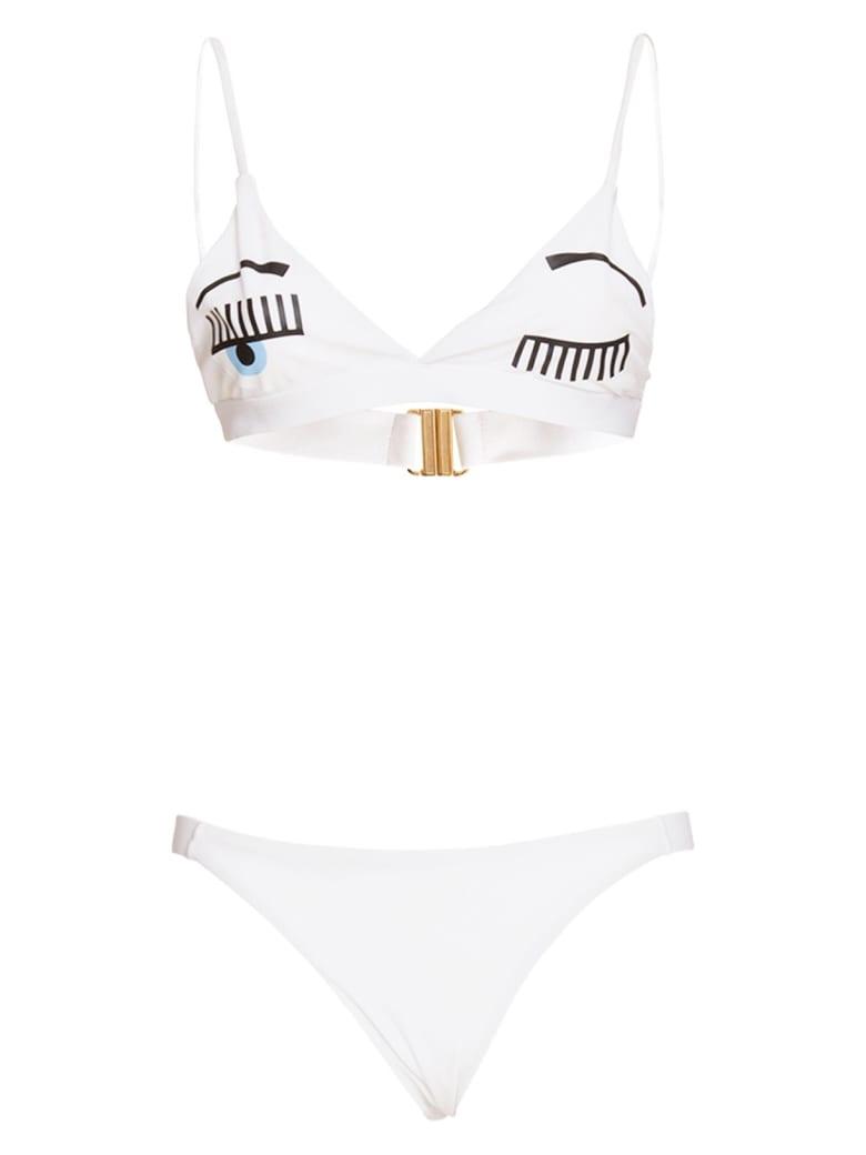 Chiara Ferragni Bikini Flirting In White - BIANCO