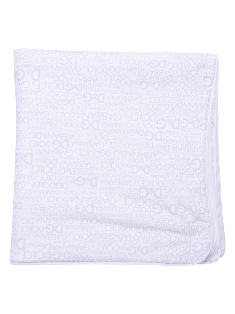 more photos b2961 f01d0 Best price on the market at italist | Dolce & Gabbana Dolce & Gabbana White  Cotton Blanket