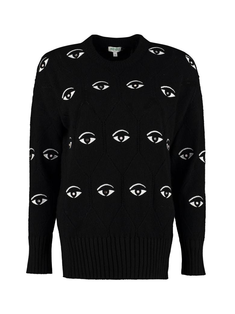 Kenzo Wool-blend Crew-neck Sweater - black