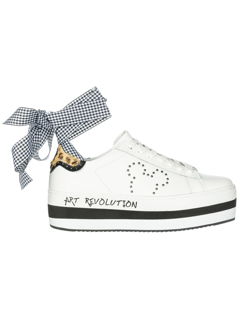 M.O.A. master of arts Moa Master Of Arts Disney Wedge Sneakers - Bianco