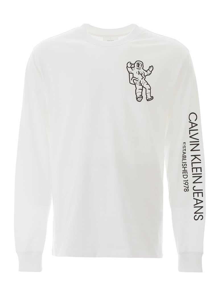 Calvin Klein Long-sleeved T-shirt - BRILLIANT WHITE (White)