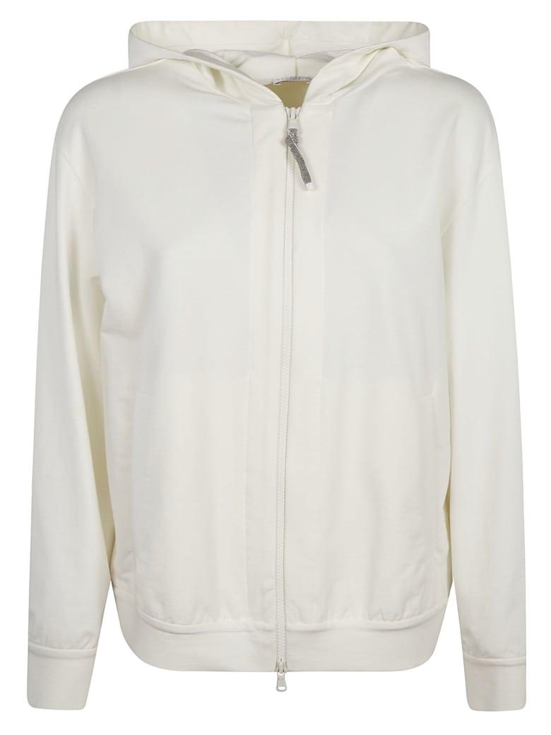 Brunello Cucinelli Classic Plain Hooded Jacket - Bianco