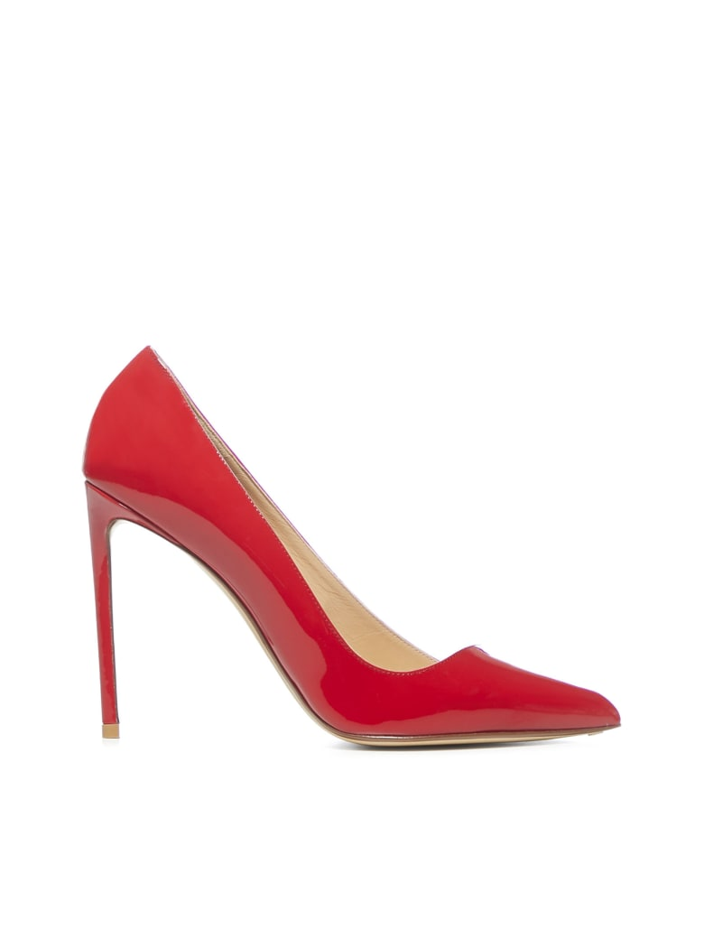 Francesco Russo 105 Mm High-heeled Shoe - Red