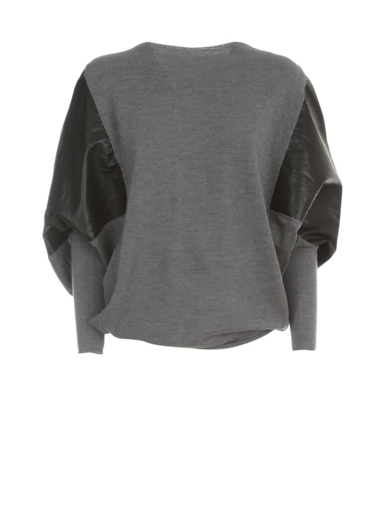 PierAntonioGaspari Faux Leather Sweater - Grigio Nero