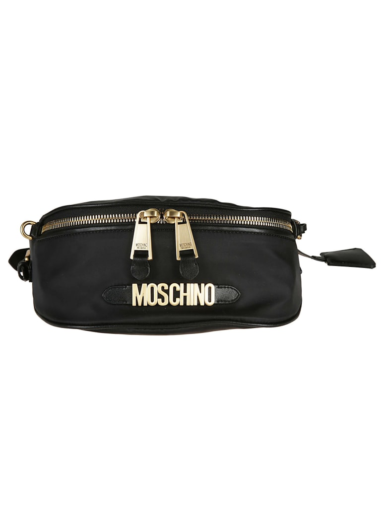 Moschino Logo Belt Bag - gold