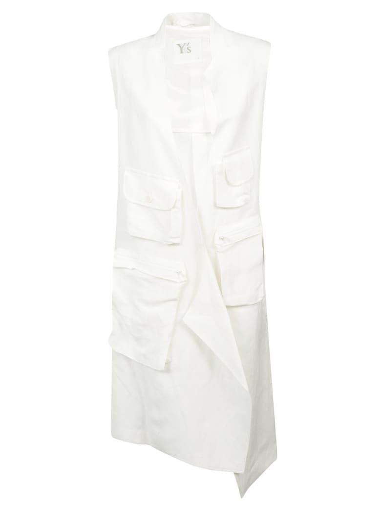 Y's Cargo Pocket Sleeveless Dress - White