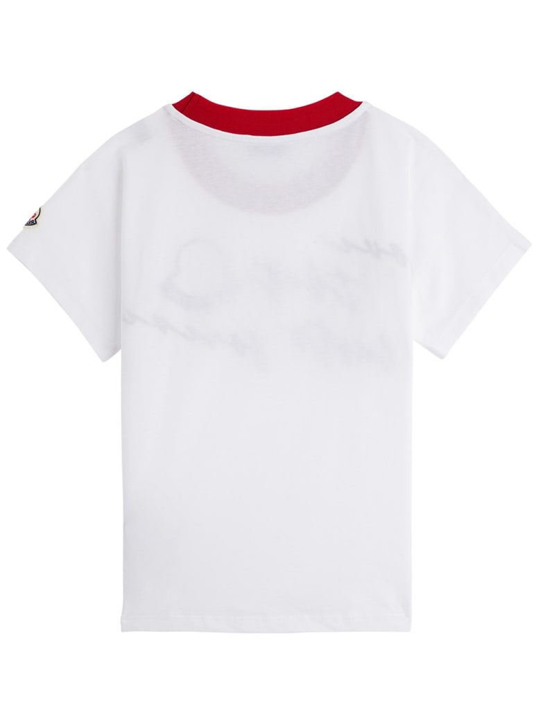 Moncler Jersey T-shirt With Logo Print - White