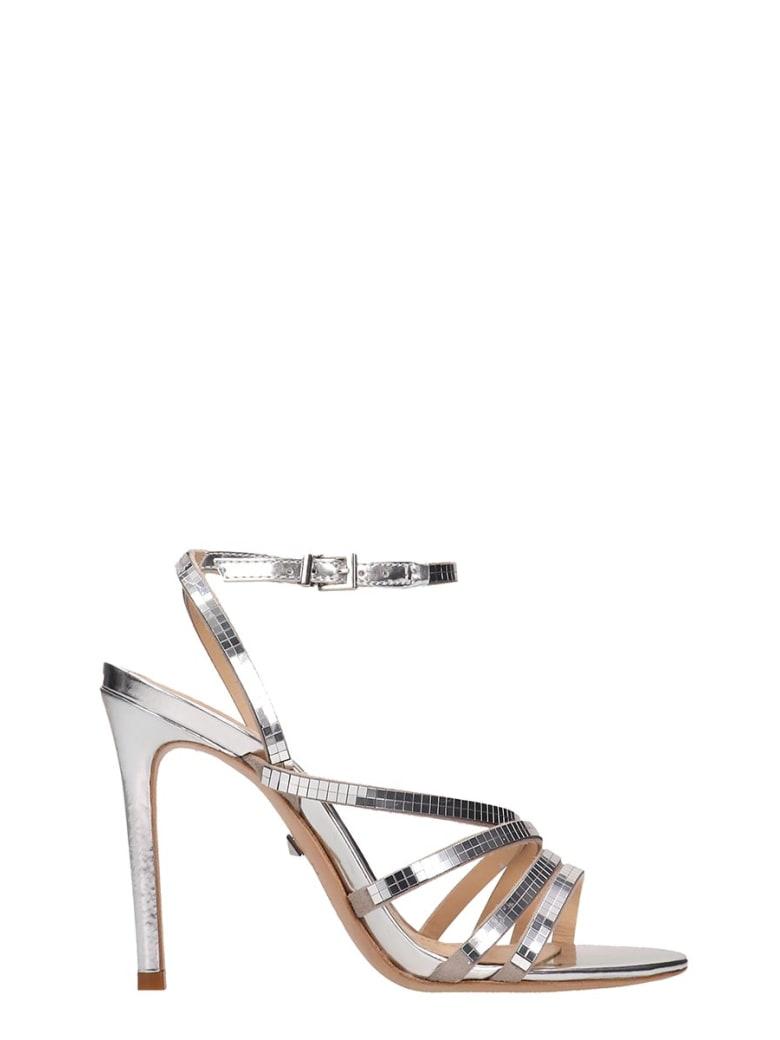 Schutz Silver Leather Sandals - silver