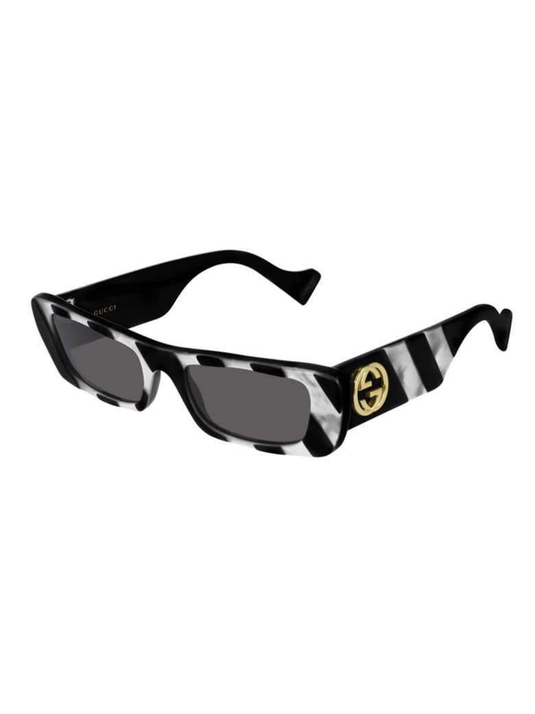 Gucci GG0516S Sunglasses - Black Black Grey