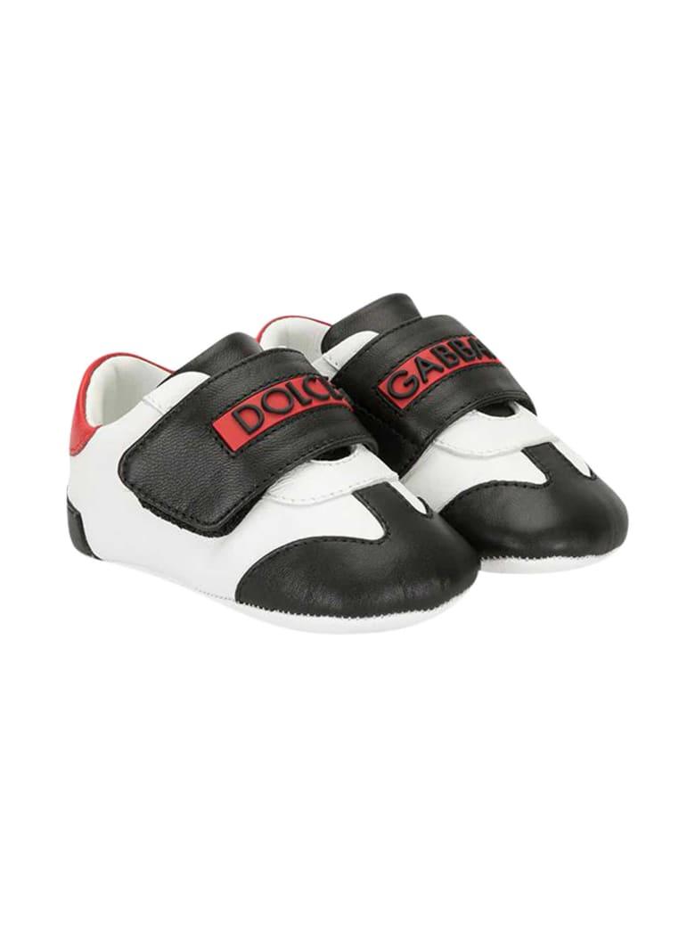 Dolce & Gabbana Newborn Sneakers - Bianco/rosso