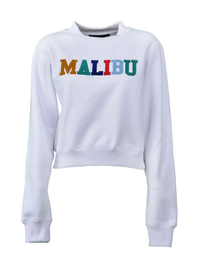 Kendall + Kylie Cropped Sweatshirt - Whi White Malibu