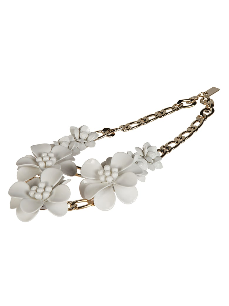 Blugirl Floral Necklace - White