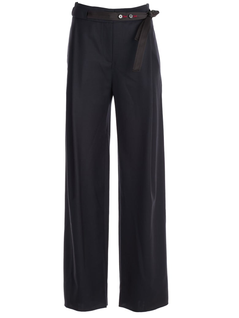 Eudon Choi High Waisted Trousers - Navy