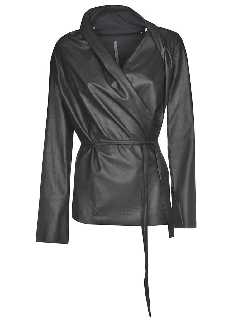 Rick Owens Lilies Belted Waist Coat - Black