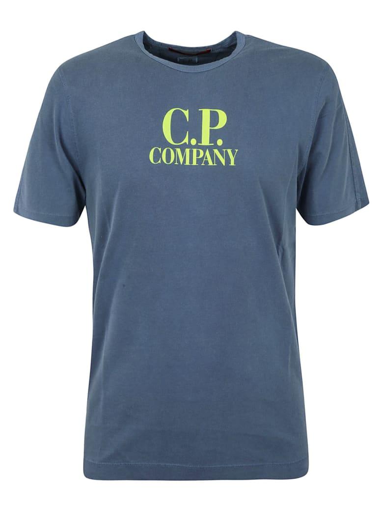 C.P. Company Logo Print T-shirt - Dark denim