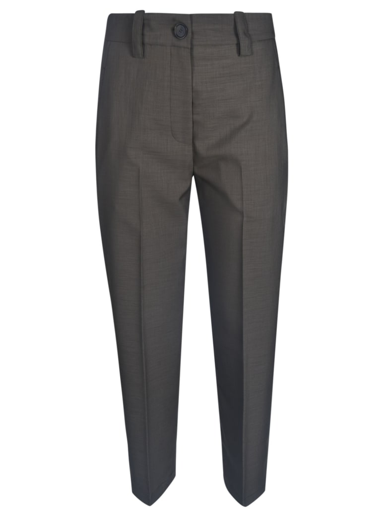 Erika Cavallini High Waist Elastic Trousers - Military