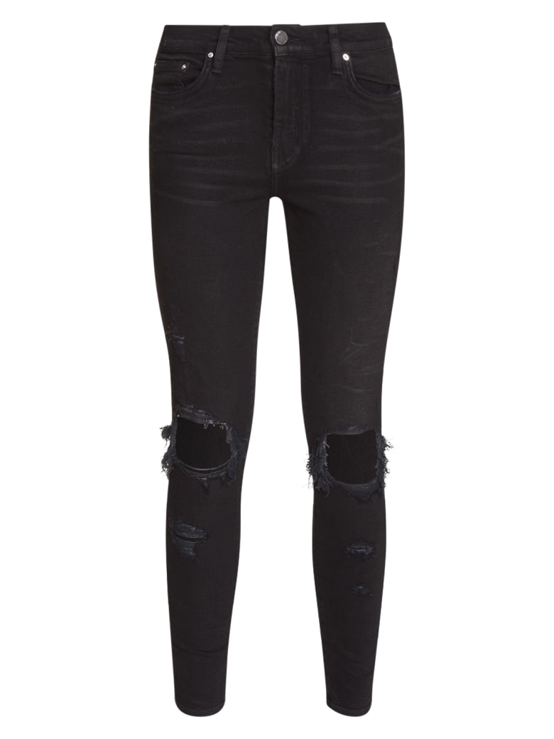 AMIRI Distressed Skinny Jeans - NERO