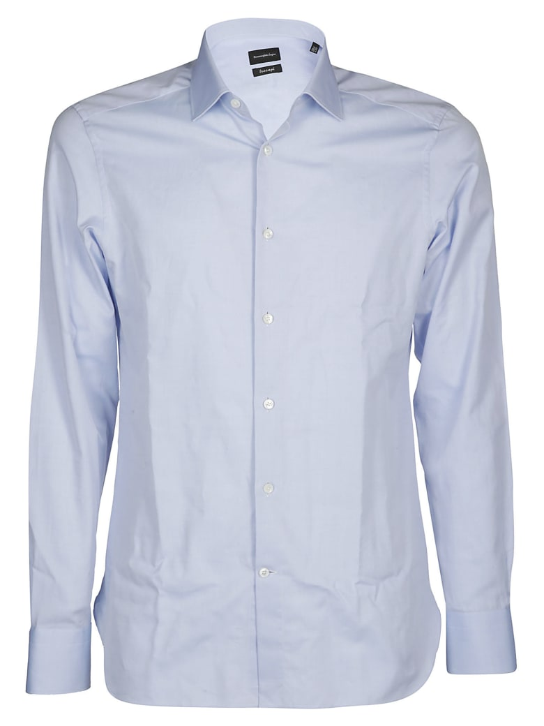 Ermenegildo Zegna Classic Cotton Shirt - LIGHT BLUE