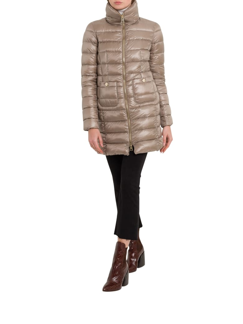 Herno Maria Long Down-jacket - Tortora