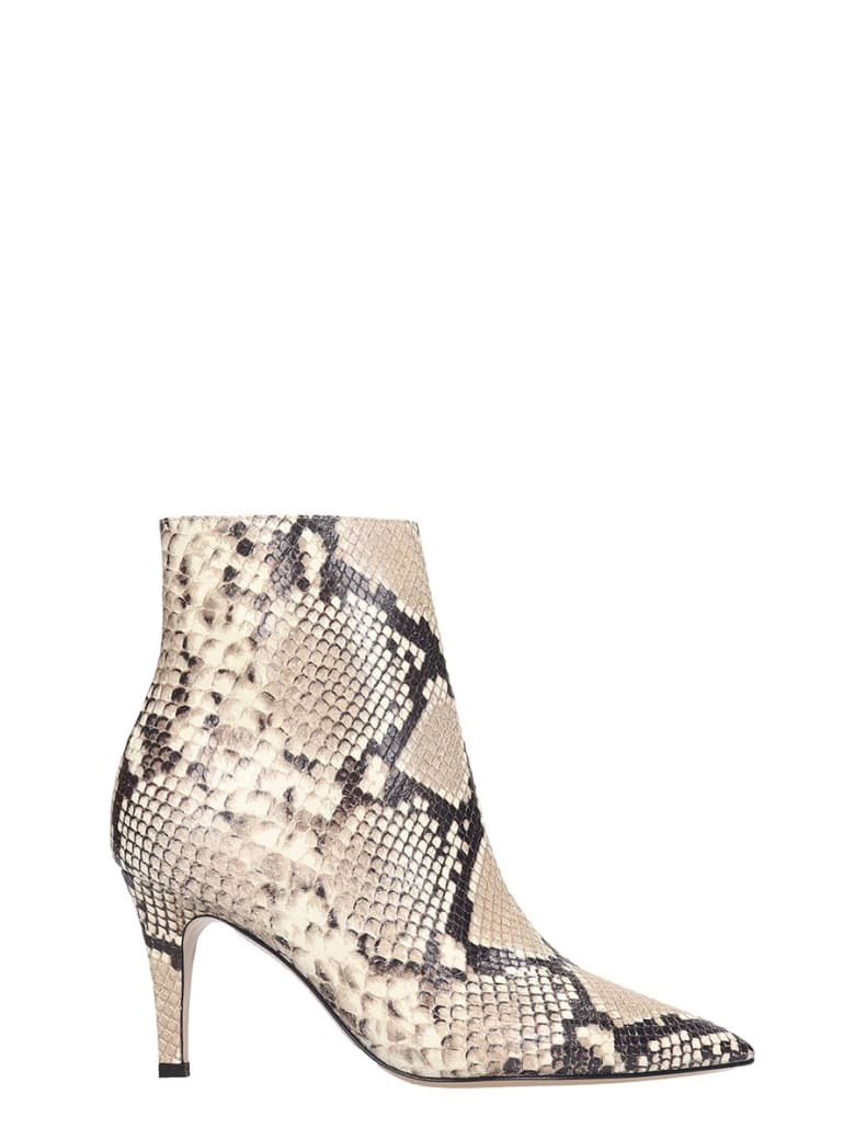 Fabio Rusconi High Heels Ankle Boots In Animalier Leather - Animalier