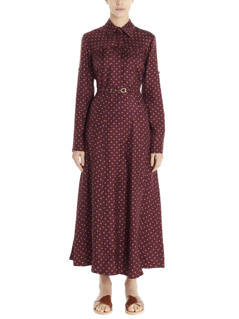 Gabriela Hearst 'descartes' Dress - Burgundy