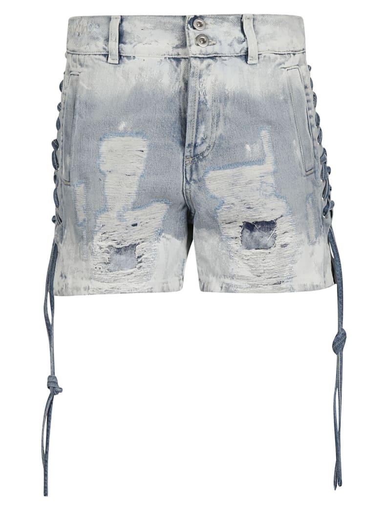 Faith Connexion Distressed Denim Shorts - Indigo