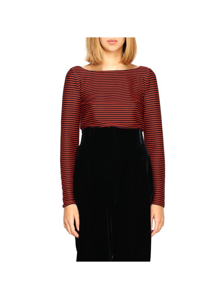 Giorgio Armani Sweater Giorgio Armani Shirt With Boat Neckline - red