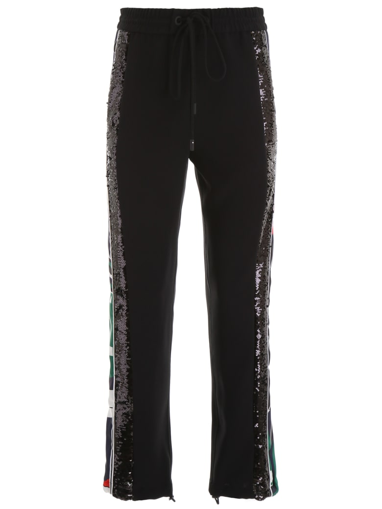 Iceberg Joggers With Logo And Sequins - NERO (Black)