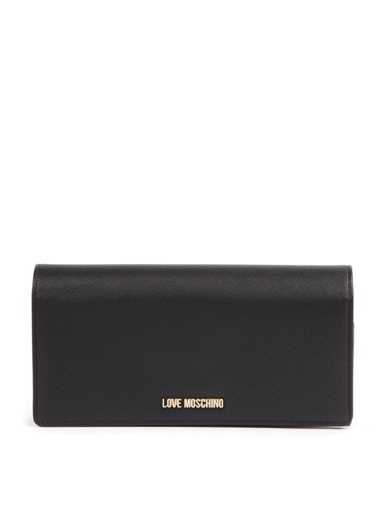 Love Moschino Faux Leather Black Wallet - Black