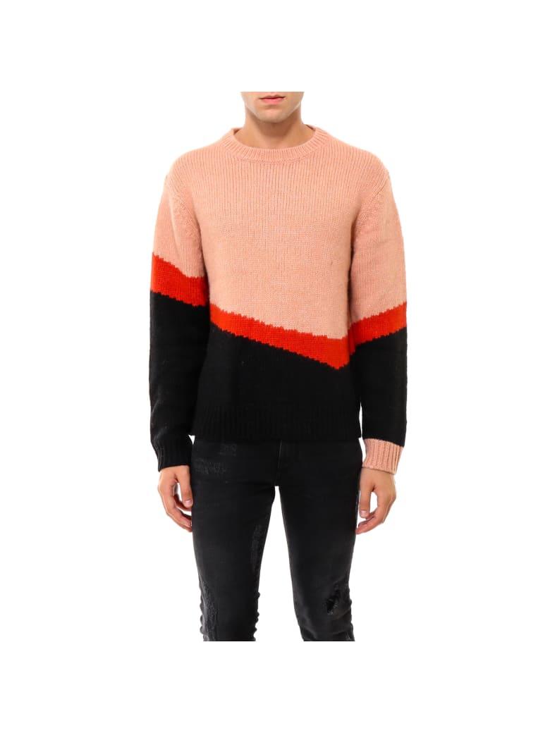 Neil Barrett Thunderbolt Tech Knit Sweater - Pink
