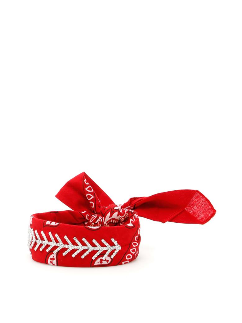 Fallon Monarch Diamante Choker - RED (Red)