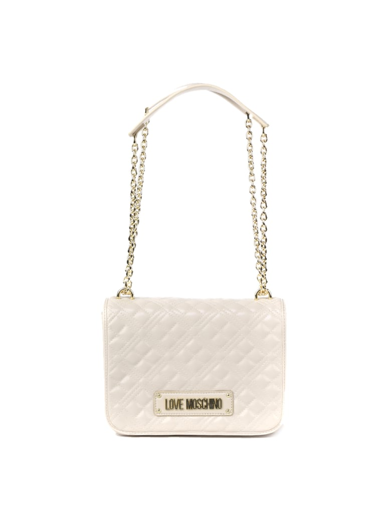 Love Moschino Ivory Quilted Ecoleather Bag - Ivory