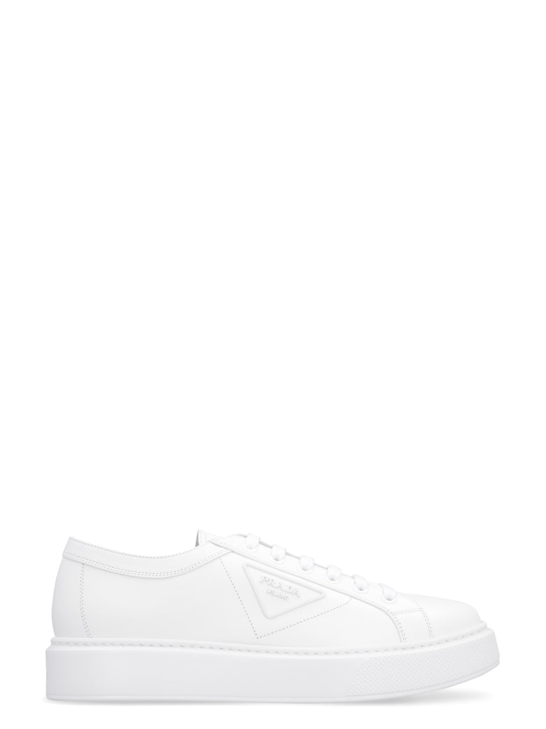 Prada Leather Low-top Sneakers - White