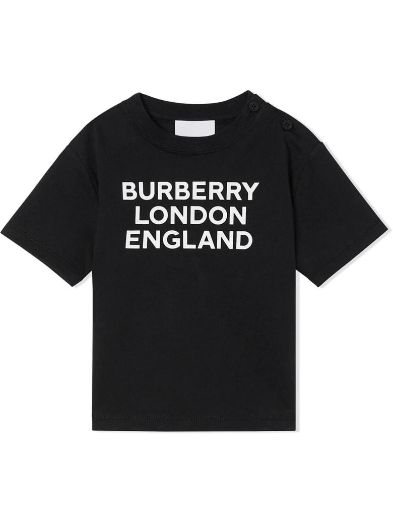 Burberry Black Cotton T-shirt - Nero