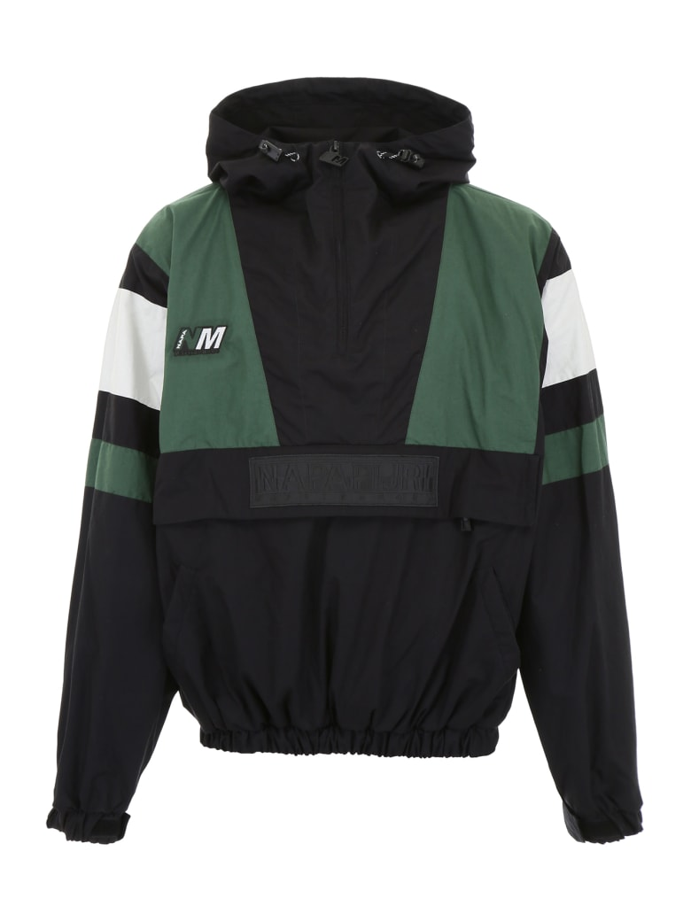 Napa By Martine Rose Tricolor Jacket - GREEN BLACK (White)