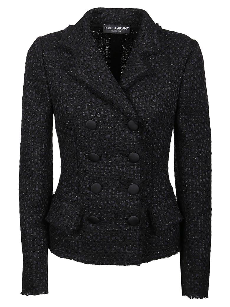 Dolce & Gabbana Double-breasted Woven Blazer - Black
